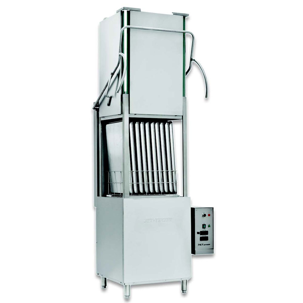 Jet Tech 747HH Deluxe High Hood Warewasher, High Temp, 30 Racks/Hour