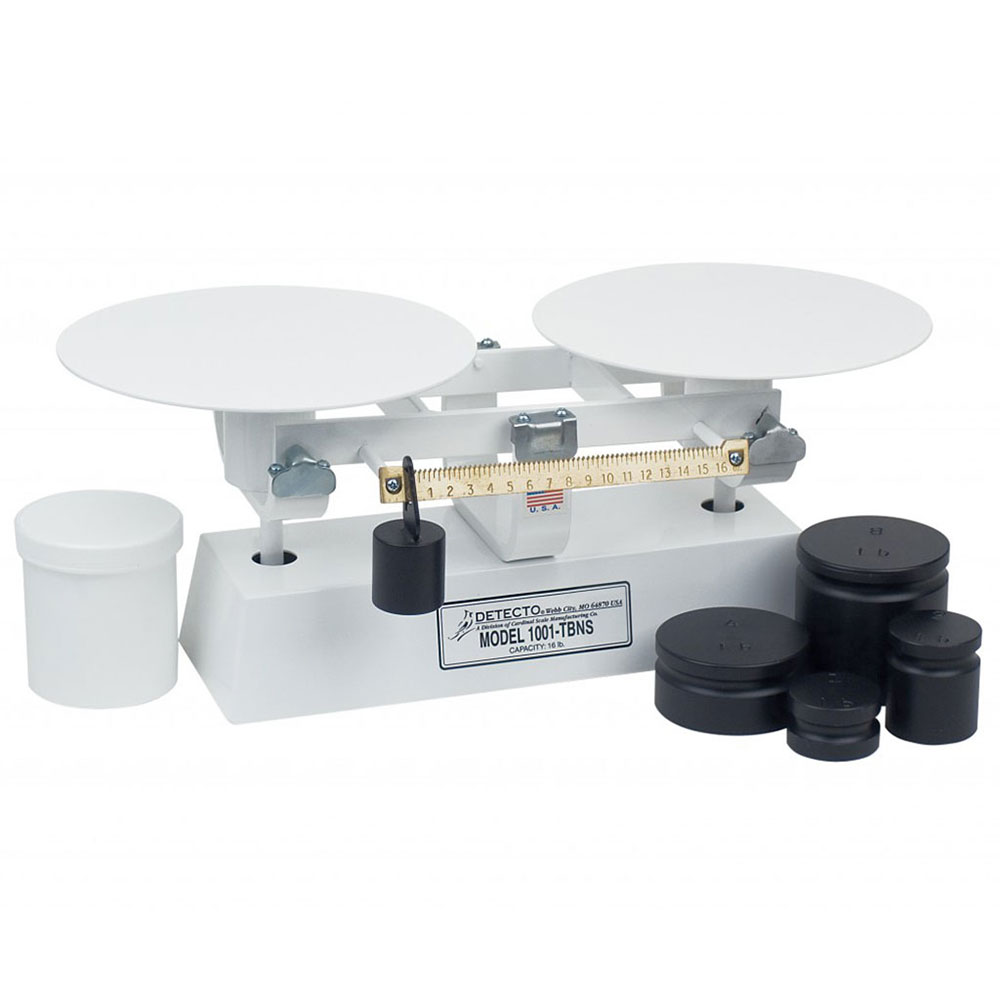 "Detecto 1002TBNS 8-lb Capacity Bakers Dough Scale w/ 9"" Plate, 16 x .25-oz"