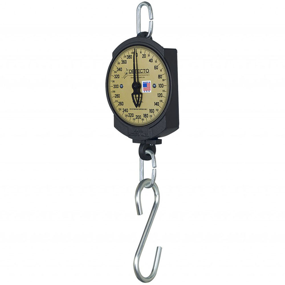 """Detecto 11S200HKG 7"""" Single Dial Hanging Scale w/ Cast Iron Housing, 100-kg x 500-g"""