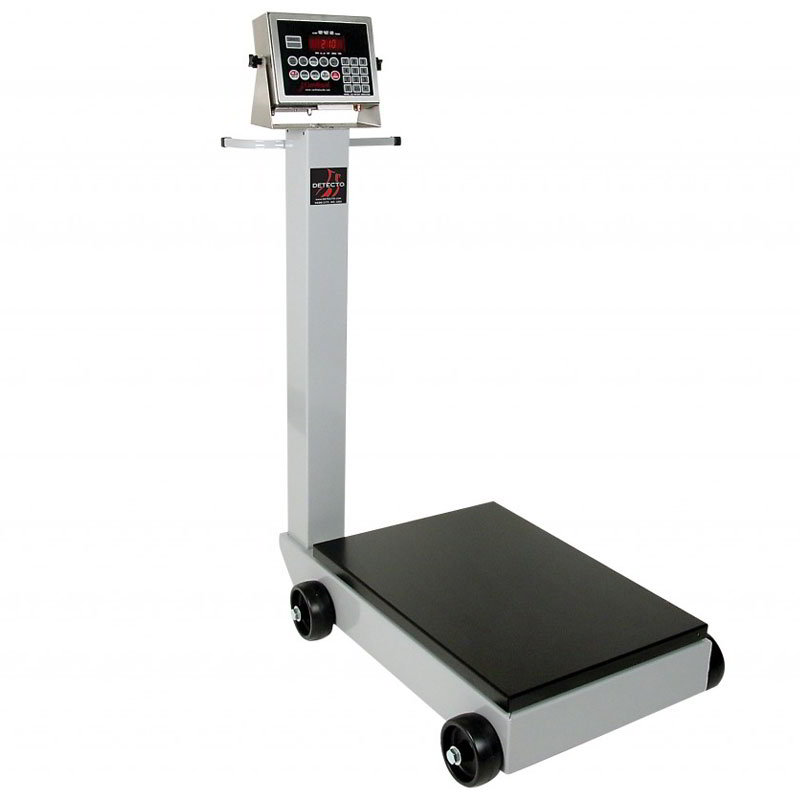 Detecto 5852F-190 500-lb Digital Portable Scale w/ 190-Weight Display Indicator