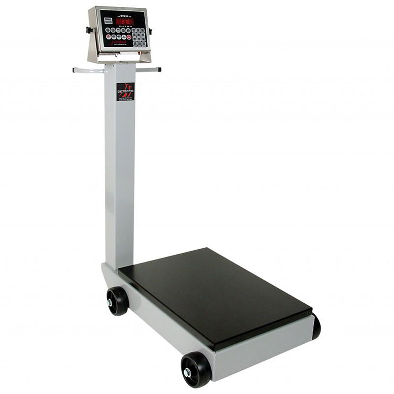 Detecto 5852F-204 Digital Receiving Scale w/ 1-in LCD, LB/KG Switch, 204 Weight Display