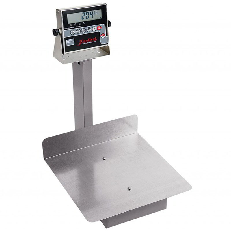 "Detecto 7045G Digital Receiving Scale, .7"" LCD Display, 400 x .2-lb, lb/kg Switch"