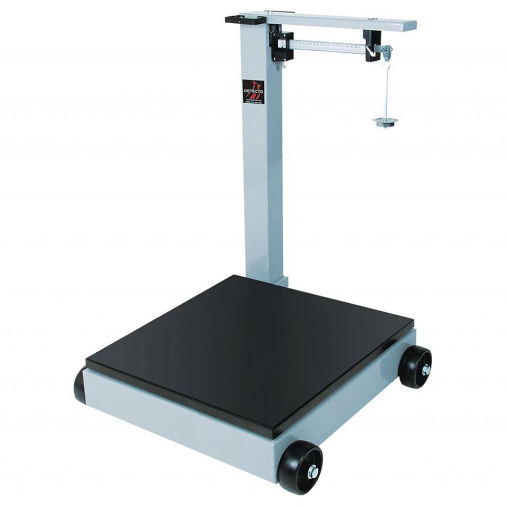 Detecto 854F100P Floor Model Balance Beam Receiving Scale w/ Enamel Finish, 1000-lb Capacity
