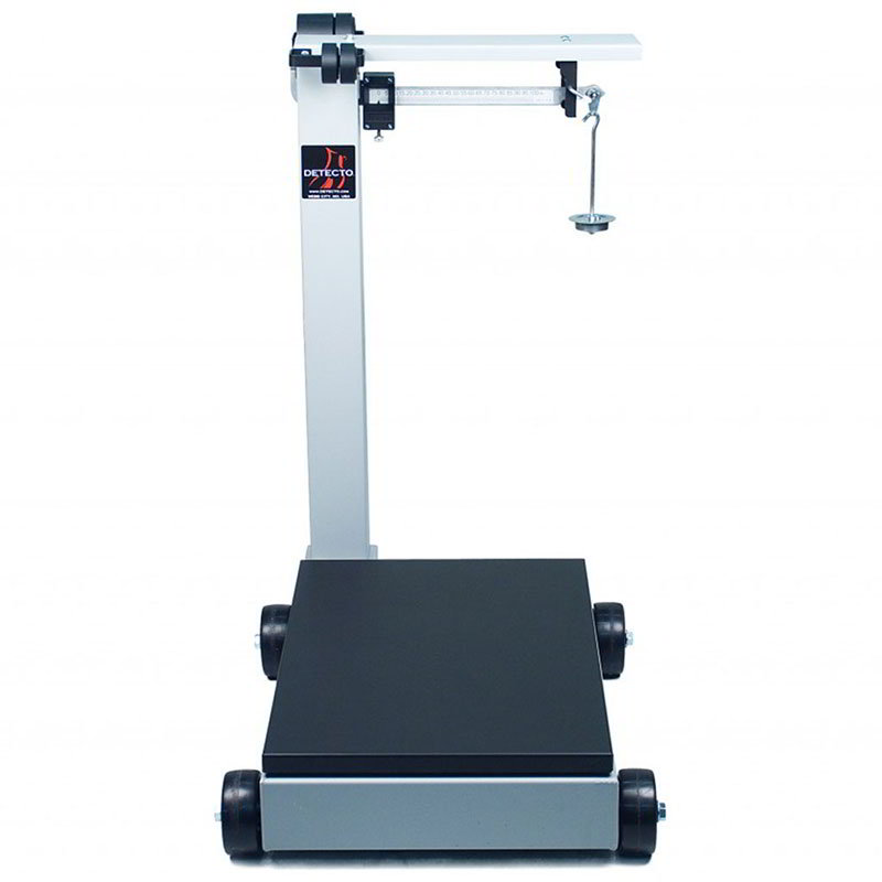 Detecto 854f100p floor model balance beam receiving scale for 1000 lb floor scale