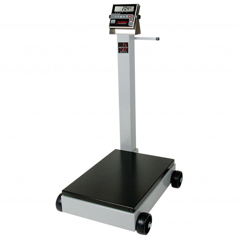 "Detecto 8852F-205 Digital Receiving Scale, .6"" LED Display, LB/KG Switch, 1000 x .5-lb"