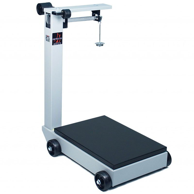 "Detecto 954F50K Floor Model Receiving Scale w/ 28 x 28"" Platform, 1000-lb Capacity"