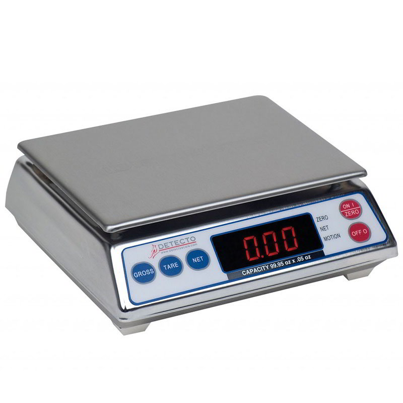 Detecto AP-6 Top Loading Scale w/ Digital Display, 99.95 x .05-oz Capacity