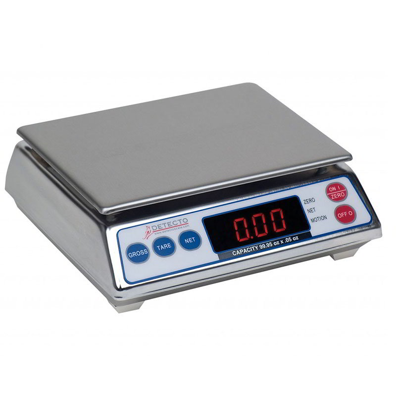 Detecto AP8 Top Loading Counter Scale w/ Digital Display, 7.998 x .002-lb, Stainless