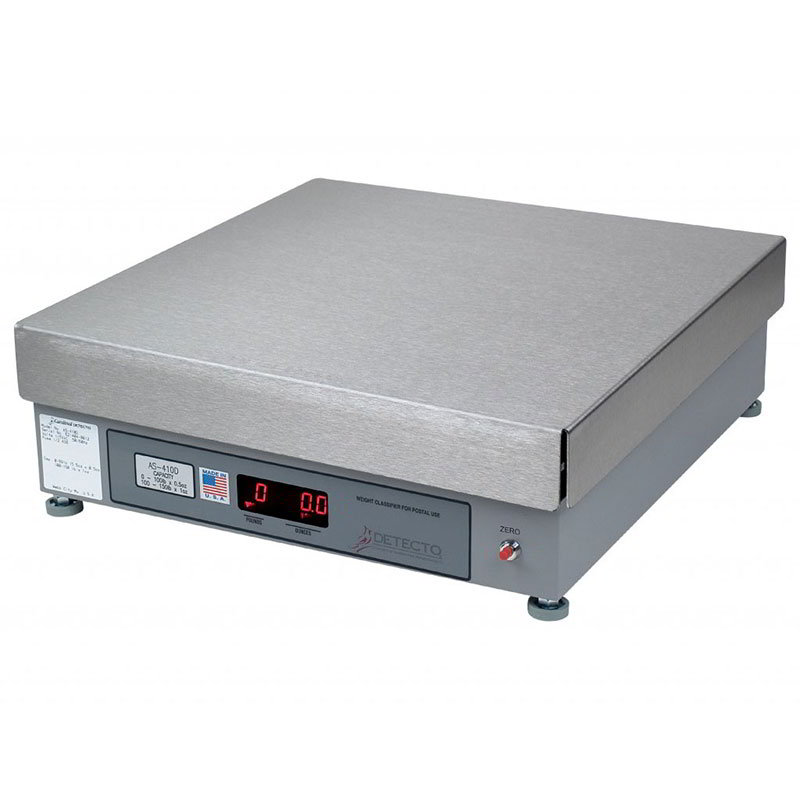 Detecto AS-420D 200-lb Point of Sale Counter Scale