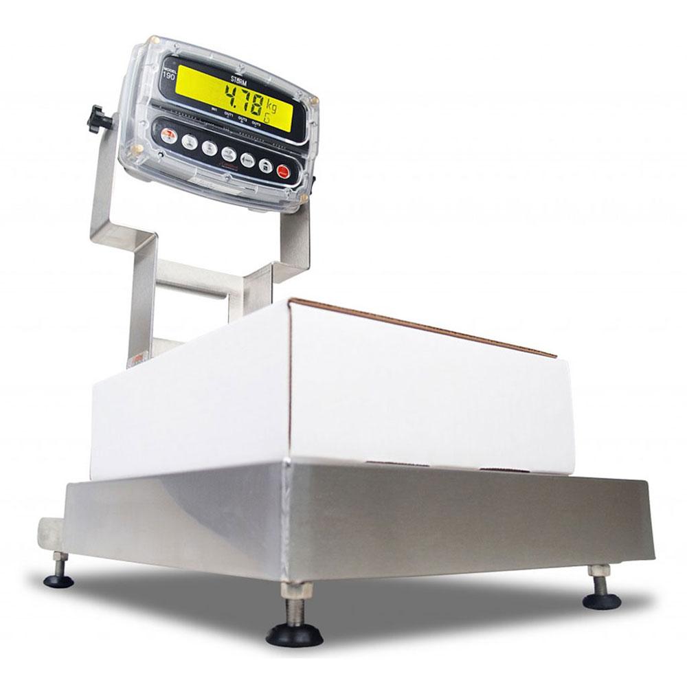 Detecto CA12-120-190 Wash-Down Bench Scale w/ ColorZONE, 120 lb x .05-lb Capacity