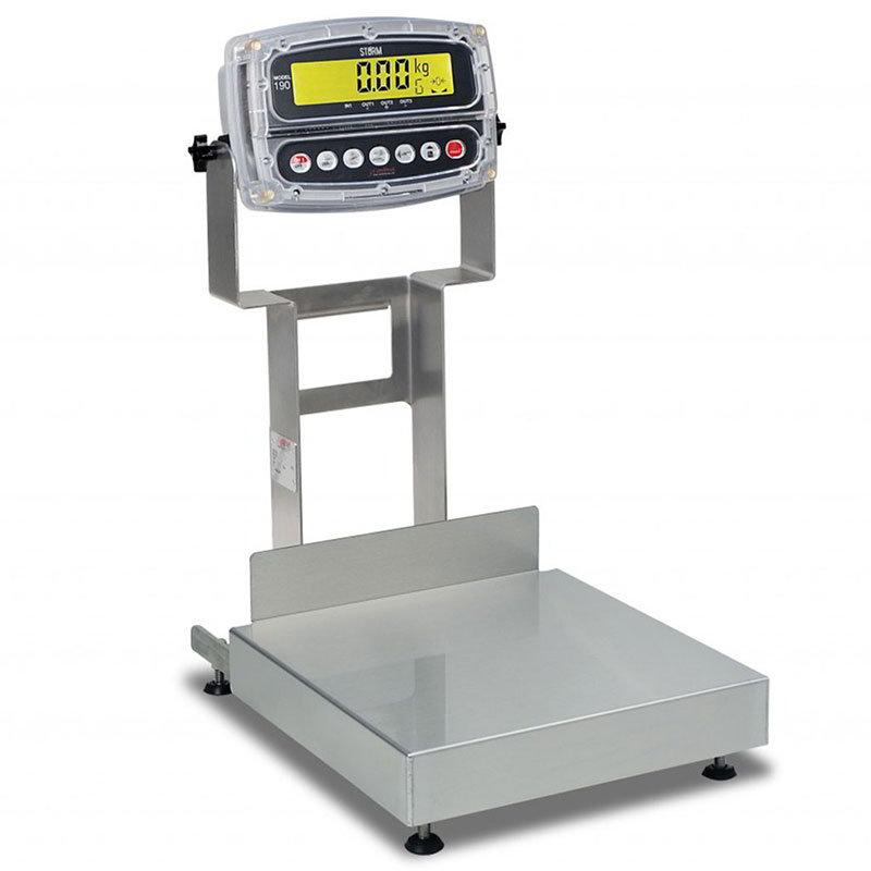 Detecto CA12-60KG-190 Wash-Down Bench Scale w/ ColorZONE, 60 kg x .002-kg Capacity