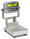 Detecto 284-B129BK Wash-Down Bench Scale w/ ColorZONE, 30 lb x .002-lb Capacit