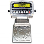 Detecto CA8-15KG-190 Wash-Down Bench Scale w/ ColorZONE, 15 kg x .001-kg Capacity