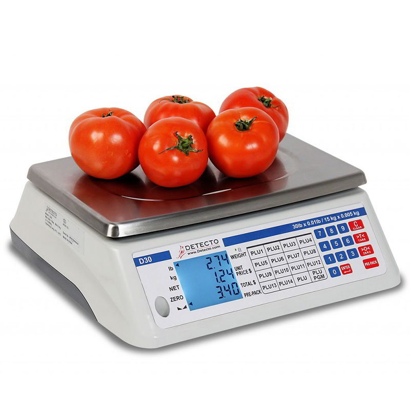 Detecto Scales D15 15-lb Price Computing Scale - Front & ...