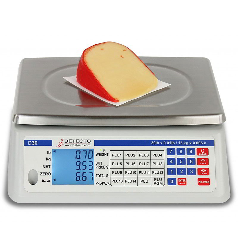 Detecto D30 Digital Price Computing Scale - 99-PLU Preset Memory Storage