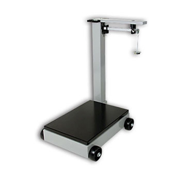 Detecto 854F50K Floor Model Balance Beam Receiving Scale, 500-kg Capacity