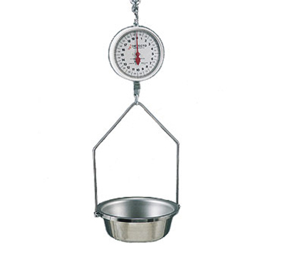 Detecto MCS-10KGDF Hanging Fish & Vegetable Scale w/ 14.5-in Round Stainless Pan, 10kg
