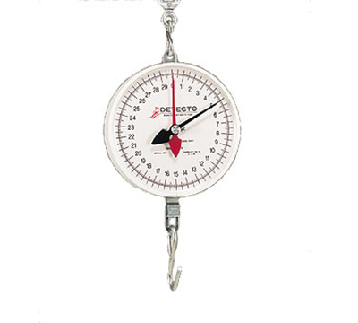 Detecto MCS-60H Plated S-Hook Hanging Scale w/ 8-in Dial, 60-lb
