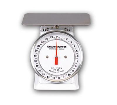 Detecto PT-5 Petite Fixed Dial Portion Scale w/ Enamel Housing, 5-lb x .5-oz.