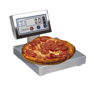 Detecto PZ3030 Digital Pizza Ingredient Scale w/ 12 x 12-in Platter, 30-lb x .25-oz