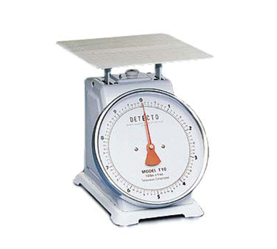 Detecto T25 Top Loading Dial Portion Scale w/ Enamel Housing, 25-lb x 1-oz