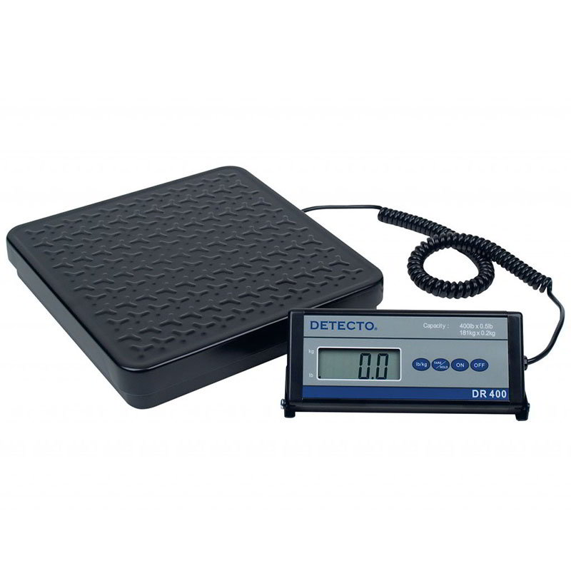Detecto DR400 Digital Shipping Receiving Scale w lb kg Conversion, Display, 400 x .5-lb