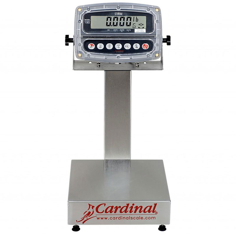 "Detecto EB-150-190 Digital Bench Scale, 1"" LCD Display, lb/kg/g/oz, 150x.05-lb, 14 x 16"""