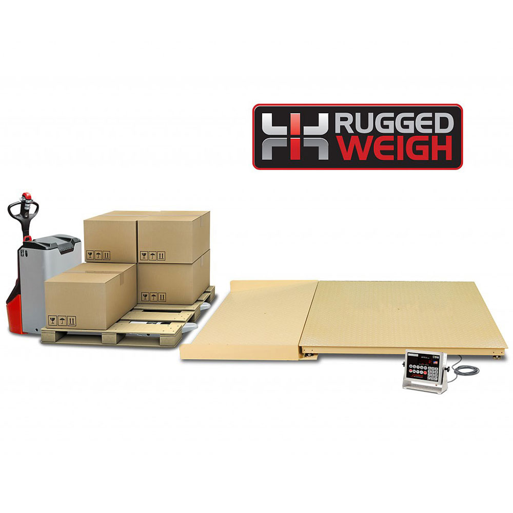 Detecto FH-533F-204 Scale Platform w/ 204 Weight Indicator, 3 x 3-ft, 5000 x 1-lb