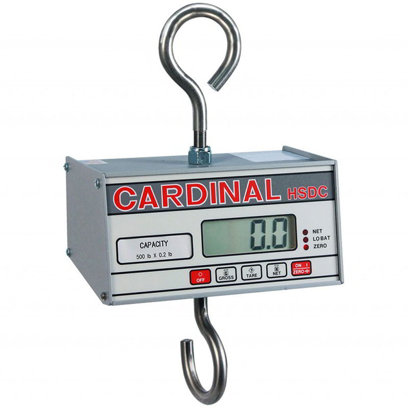 Detecto HSDC-100KG Hanging Scale w/ 1-in Digital Readout, Battery Powered, 99.95x.05-kg Capacity