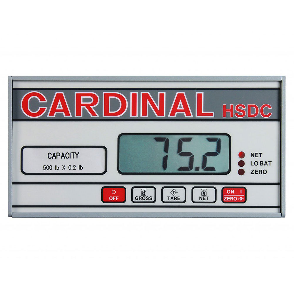 """Detecto HSDC-500 Hanging Scale w/ 1"""" Digital Readout, Battery Powered, 500x.2-lb Capacity"""