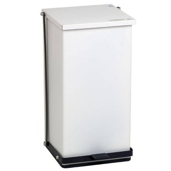 "Detecto P-100 25-gal Rectangle Plastic Step Trash Can, 27.75""L x 16.75""W x 17.75""H, White"