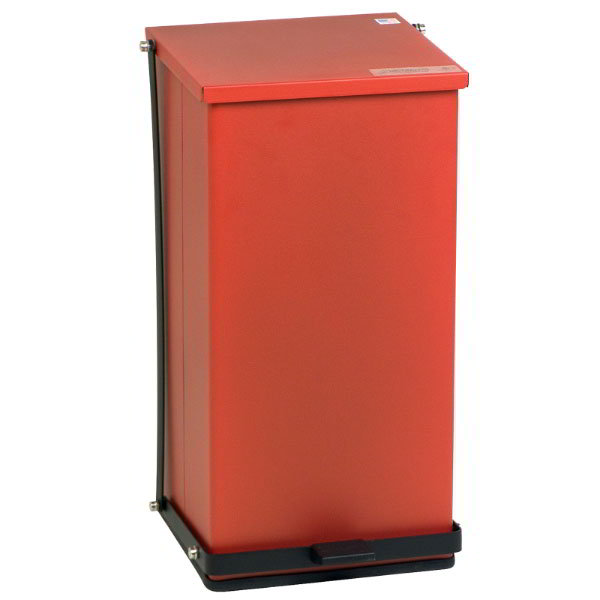 "Detecto P-100R 25-gal Rectangle Plastic Step Trash Can, 27.75""L x 16.75""W x 17.75""H, Red"