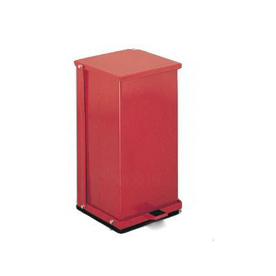 "Detecto P-16R 4-gal Rectangle Plastic Step Trash Can, 13""L x 11.75""W x 13""H, Red"
