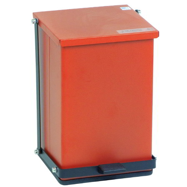 "Detecto P-24R 6-gal Rectangle Plastic Step Trash Can, 16""L x 11.75""W x 13""H, Red"