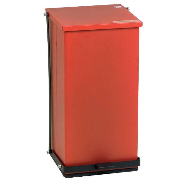 """Detecto P-48R 12-gal Rectangle Plastic Step Trash Can, 23.5""""L x 13""""W x 14""""H, Red"""
