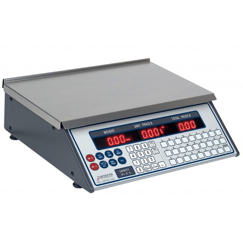 Detecto PC10 6-lb Price Computing Scale - Front & Back Display