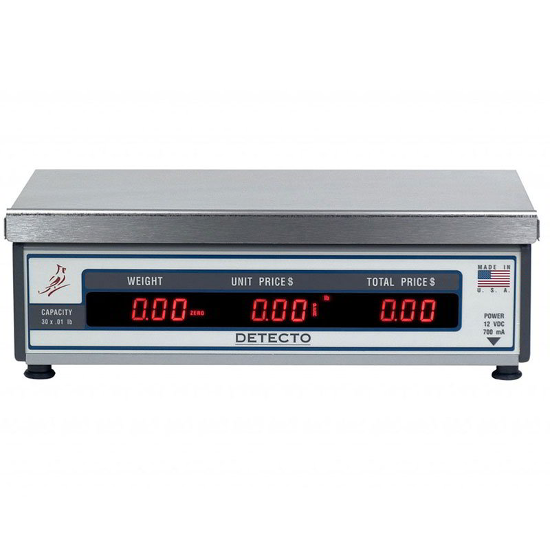 Detecto PC20 15-lb Price Computing Scale - Front & Back Display, 115v