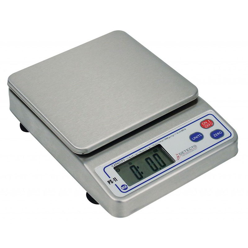 Detecto PS11 Digital Portion Control Top Loading Scale w/ LCD Display, 11-lb x .1-oz