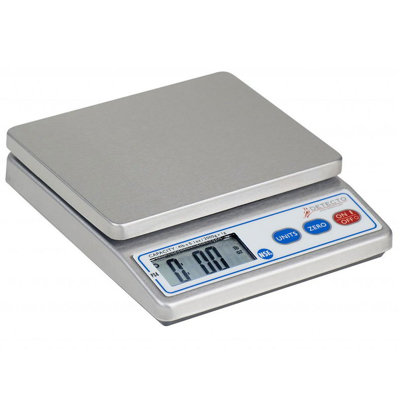 Detecto PS-4 Top Loading Counter Model Scale w/ Digital Portion Control, 4-lb x .1-oz