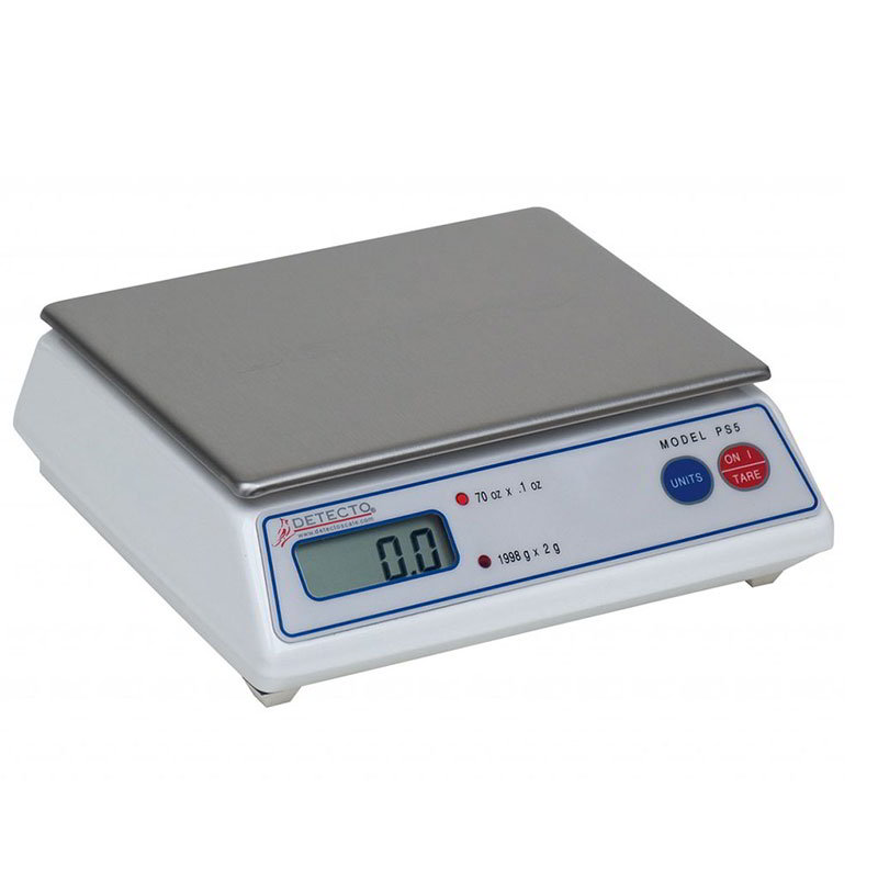 Detecto PS5A Digital Portion Control Top Loading Scale w/ LCD Display, 70 x .1-oz