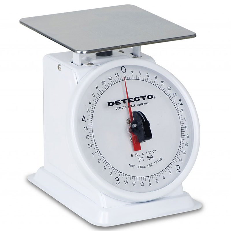 "Detecto PT2 Petite Top Loading Counter Scale w/ 6"" Dial, 32 x .25-oz Capacity"