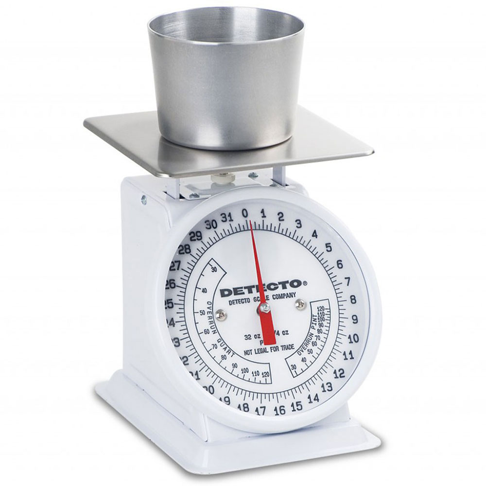 Detecto PT-2R Counter Model Dial Portion Scale w/ Enamel Housing, 32 x .25-oz
