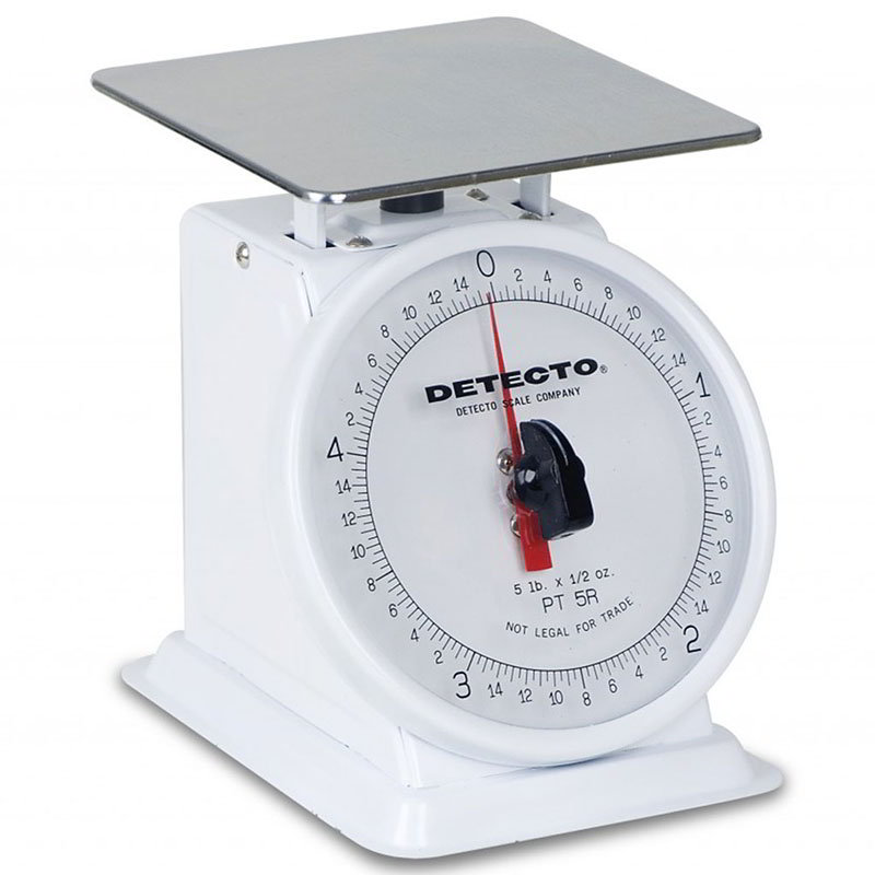 Detecto PT-5 Petite Fixed Dial Portion Scale w/ Enamel Housing, 5-lb x .5-oz.