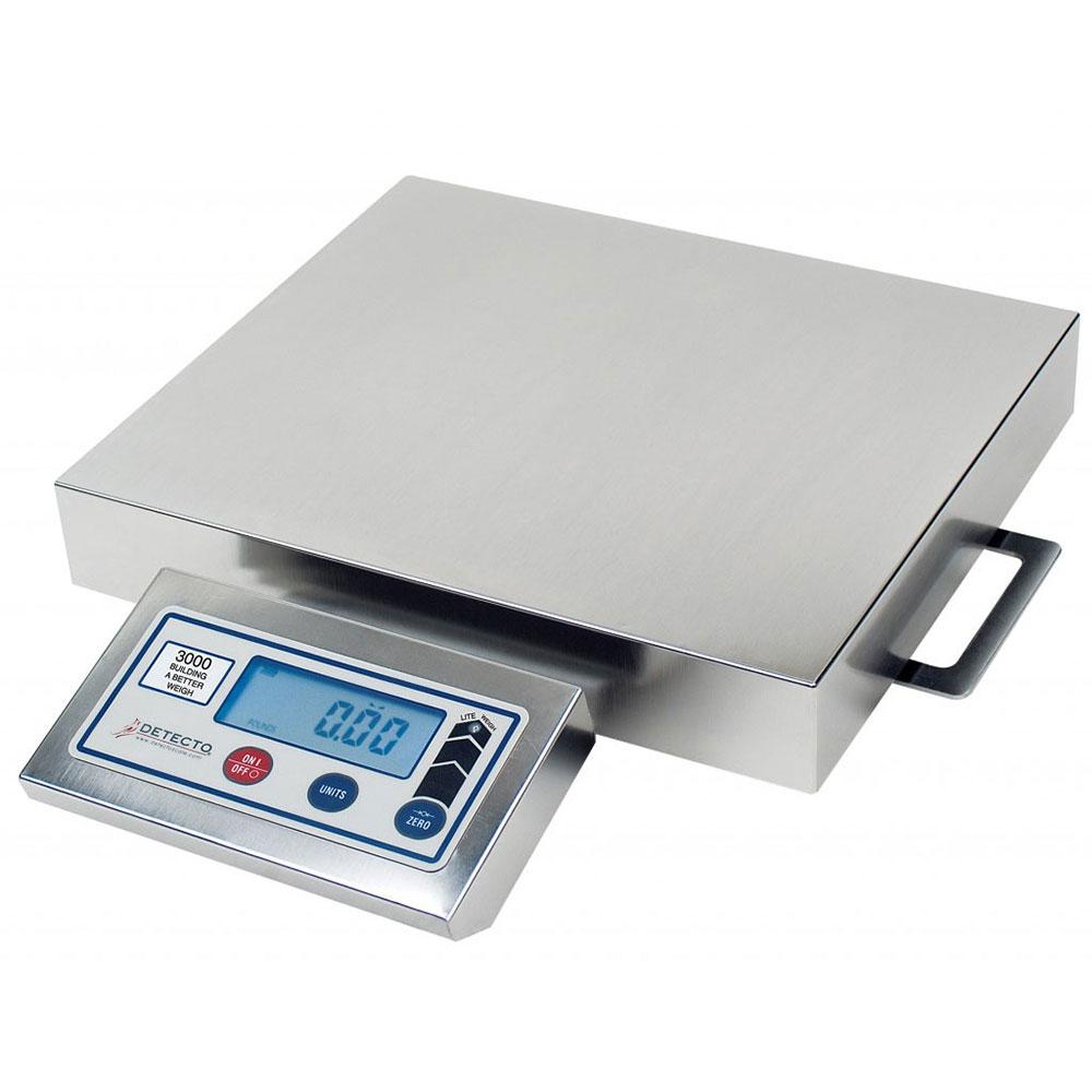 "Detecto PZ3030 Digital Pizza Ingredient Scale w/ 12 x 12"" Platter, 30-lb x .25-oz"