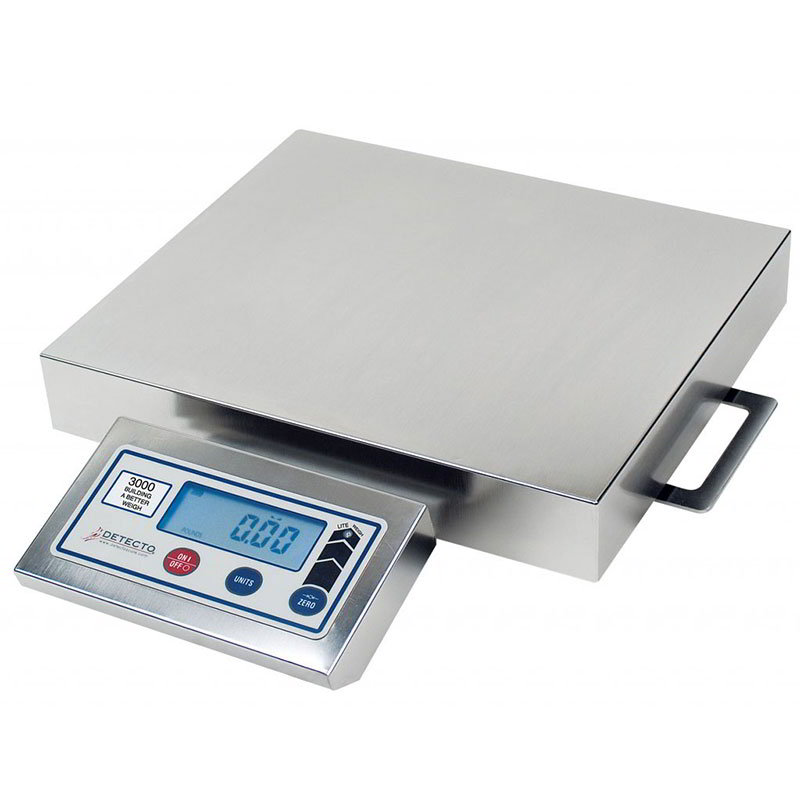 "Detecto PZ3060 Digital Pizza Ingredient Scale w/ 14 x 12"" Platter, 60-lb x .25-oz"