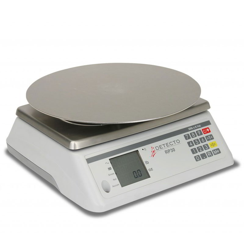 "Detecto RP30R 30-lb Rotating Scale w/ 13"" Round Platter, 115v"