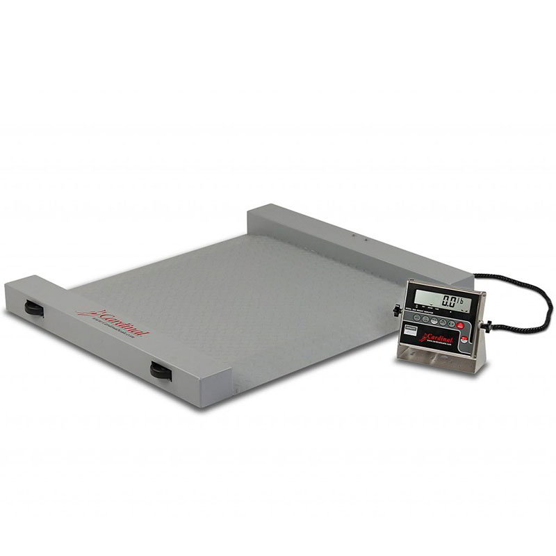 Detecto RW-1000 Portable Digital Run-A-Weigh Floor Scale w/ 1000 x .5-lb Capacity