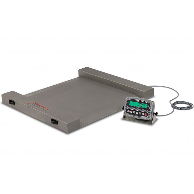 Detecto RW-500 Portable Digital Run-A-Weigh Floor Scale w/ 500 x .2-lb Capacity