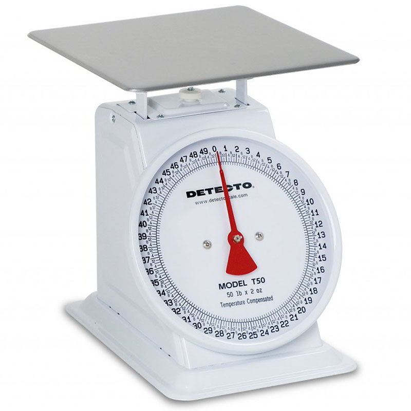 Detecto T100 Top Loading Dial Receiving Scale w/ Enamel Housing, 100-lb x 4-oz