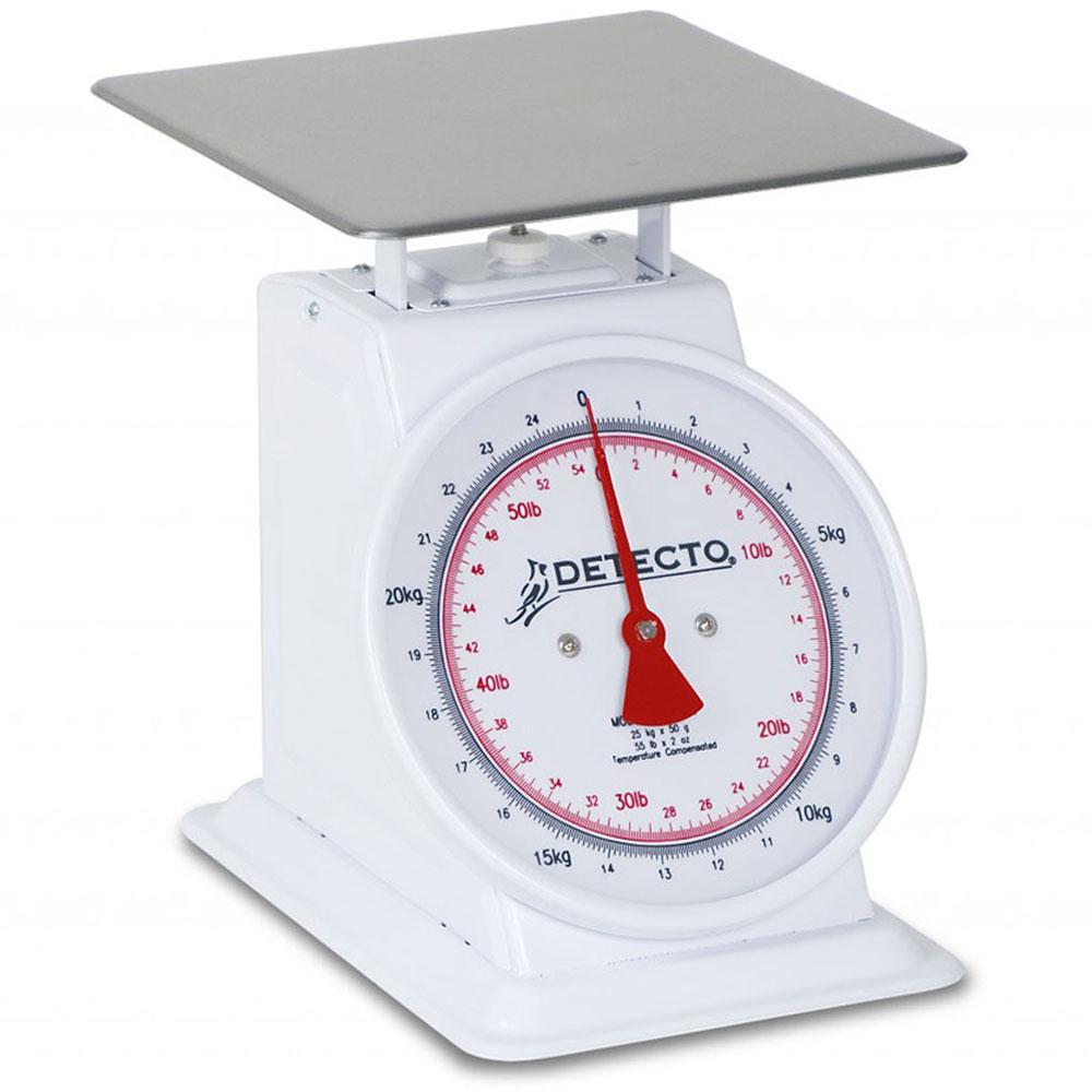 Detecto T-50-KP Top Loading Dial Portion Scale w/ Enamel Housing, 110 x .25-lb